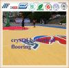Superficie della pavimentazione del campo da pallacanestro di Cn-S04 Cyrstal con struttura di legno