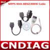 ECU Chip Tuning Tool van Mpps SMPS V5.0 voor EDC15 EDC16 EDC17 met Benz/BMW Cable