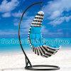 Black及びWhiteの流行の庭Rattan Hanging Swing Chair