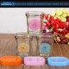 Quadratische Glasflasche für Pudding, Vogel-Netz, Süßigkeit und Nachtisch