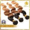 Верхний соткать человеческих волос Remy волос 100% Ombre ранга (O-1)