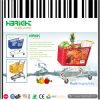 De style américain chariot panier de magasinage en plastique