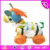 Les jouets en bois pour le bois animal de forme de gosses joue le véhicule W04A352 de jouets de gosses de Montessori