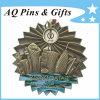 Distintivo di Pin Antiqued metallo creativo 3D con il distintivo del filatore (badge-115)