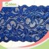 Knit o merletto tessuto di stirata dell'azzurro reale del testo fisso del fiore