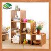 DIY Creative Combination Slotted Bamboo Storage Prateleira