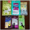 Levantarse el bolso del acondicionamiento de los alimentos de animal doméstico de la cremallera