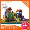 Campo de jogos plástico ao ar livre do equipamento o mais atrasado colorido da corrediça