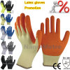 Revêtement de paume orange Nmsafety Latex main Gants de travail