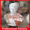 Statue de marbre blanche rouge de buste de Carvd de main