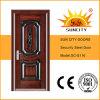 ナイジェリアの市場(SC-S116)のための単一の安い細工した鋼鉄ドア