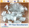 Fibra de reforço concreta Fibra da fibra dos PP do Polypropylene do Multifilament do monofilamento