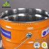 Benna/secchio neri del metallo di colore di 5 galloni per imballaggio chimico