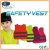 Chalecos amonestadores 100% de la policía de la seguridad fluorescente del PVC de la tela de acoplamiento del poliester