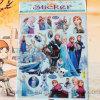 Etiquetas engomadas estampadas hoja del juguete de la historieta, etiqueta engomada congelada para los niños