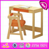 Kids W08g157bのための2015人の子供Writing TableおよびChair、Kids Study Table Chair Set、School Wooden TableおよびChair
