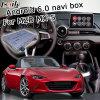 Android 6.0 GPS-Navigations-Kasten für Mazda Mx-5 Mzd schließen videoschnittstellen-Drehknopf-Steuerung Waze an