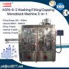 Macchina di Monoblock di lavaggio/riempire/ricoprire per l'essenza della pulitrice (XGF8-8-3)