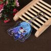 Custom Anime en acrylique transparent de trousseaux avec impression recto verso