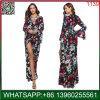 OEM Custom Fashion longue robe longue occasionnel Mesdames avec manchon