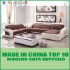Sofá de couro de canto da mobília da sala de visitas da base do sofá da sala de estar