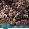 Género das mulheres e de Sell do PVC rolo de couro sintético da serpente quente material para o couro do saco
