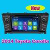 Toyota Corolla 2014년과 Toyota OEM Approved (IY7115)를 위한 GPS High Quality Tuner를 가진 차 DVD