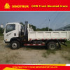 Sinotruk 4X2 Guindaste montado em caminhão Capacidade de elevação de 5 toneladas