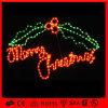 メリークリスマスの文字ライトを点滅させる屋外Xmasのモチーフシリーズ