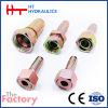 Metrisches Stahlweibchen 60 Grad-hydraulischer Schlauchleitung-passender Adapter (20611 20611-T)