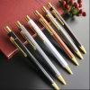 Hôtel stylo avec clip en métal doré