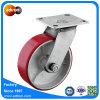 6 Zoll-Hochleistungsschwenker-Polyurethan-Fußrollen-Rad PU-Rad-Fußrolle