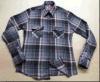 100%年コットンフランネルの小切手のワイシャツ、女性の長い袖の