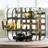 正方形9のびんのワイン・ボトルラック