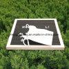 Panneau de lettre de feutre avec les lettres et le bâti en plastique changeables blancs de hêtre