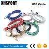 Cable de datos trenzado de la sinc. del cargador del USB del nilón colorido