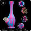 Qualitäts-Vasen-Form-unzerbrechliches Silikon-rauchendes Wasser-Rohr für Großverkauf