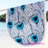 卸売の高品質の100%年の綿の円形の円のビーチタオル