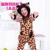 Kuka lindo dibujos animados leopardo gatito onesie cosplay traje pijama