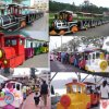 Fwulong Outdoor and Indoor Electric Park Tourist Train for Sale