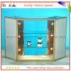 Escaparate de cristal, cabina de visualización de cristal, cabina, contador de la visualización, equipo de la exposición, caso justo