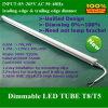 O tubo novo T5 do diodo emissor de luz unificou a C.A. elevada da saída 85~265V do lúmen de Dimmable 9W 60cm