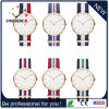 Vigilanza d'acciaio del quarzo svizzero delle donne del movimento delle vigilanze (DC-1271)