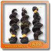 매끄러운 Natural Black 3A 인도 Remy Hair Extension
