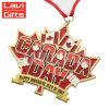 カスタム大きい金メダル、押された金メダル、記念品のカナダのスポーツメダル