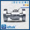 Vávula de bola suave de alta presión del sello del acero inoxidable de Didtek