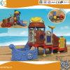 海賊船の子供の屋外のプラスチック運動場装置