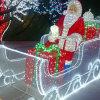 3D Acrylic Christmas Santa Motif Décoration de Noël de plein air Lumière