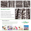 Tela seca do esporte do ajuste da impressão da tela de matéria têxtil da tela do Spandex do poliéster 20% de 80%