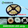 12V/24V luz de tira 60LEDs/M do diodo emissor de luz da C.C. SMD3528 (CE, RoHS, IEC/EN62471, LM-80)
